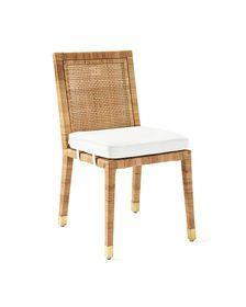 Balboa Side Chair Perennials Basketweave White Dining Chairs Side Chairs Dining Room Chairs