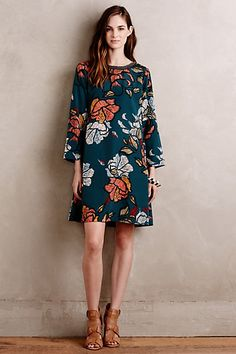 Sketched Peonies Tunic #anthropologie