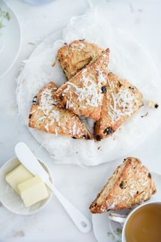 ... coconut and dried cherry scones ...
