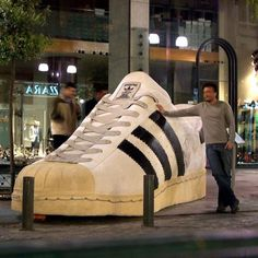 adidas. Think the Hubby would love to see this. These are his favorite shoes!