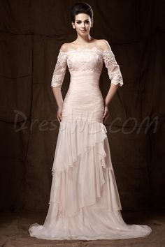 Romantic Lace Tiered Off-the-Shoulder Floor-length Taline's Mother of the Bride Dress 9672808 - Mother Dresses 2014 - Dresswe.Com