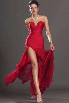 2013 Prom Dresses Sheath Sweetheart Floor Length Chiffon Beading/Sequins