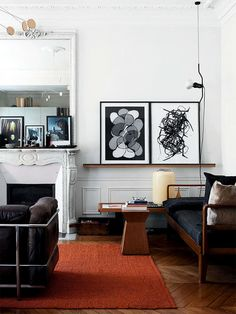 Paris apartment byAngelica Steudel. Photo byMorten Holtum forElle Decoration UK 2013.