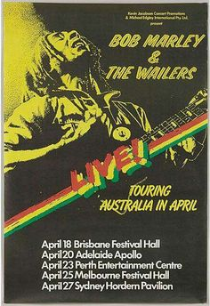 Bob Marley And The Wailers - Voice Of The Sufferers - Memorabilia Tour Posters Vintage Concert Posters, Vintage Posters, Bob Marley Concert, Tour Posters, Music Posters, Event Posters, Band Posters, Bob Marley Pictures, Dream Music