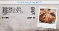 Recepty Ládi Hrušky - Slaninovo-sýrový koláč Food, Meal, Essen, Hoods, Meals, Eten