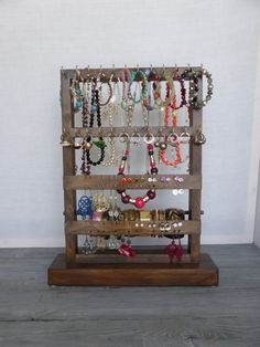 Jewelry organizer  Standing jewelry holder  by CraftersCalendar