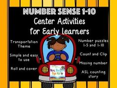 Number Sense Center Activities for Early LearnersIncluded in this packetNumber order Puzzles 1 -5 and 1 -10 - Laminate and cut along the lines (I like to put magnets on the back of each piece an use this as a magnetic center.  It is especially helpful for students that need extra support putting the numbers in order or organizing their space)Count and match puzzles. - Laminate and cut along the puzzle lines. (I love magnets and I often use these as a fishing center.