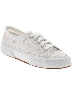 4a3bf1487733 White lace Supergas make for the girliest sneakers around