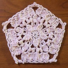 Clustered Puffy Pentagon Doily ~ FREE Crochet Pattern