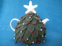 Crochet Pattern Teacosy Christmas Tree Tea Cosy by Millionbells