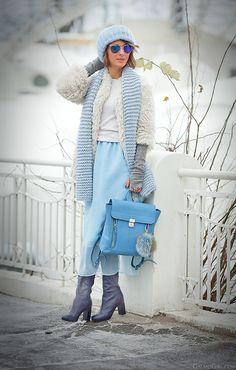 3.1 Phillip Lim Pashli backpack in blue on GalantGirl.com
