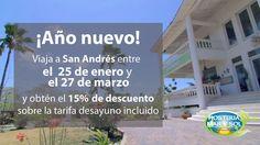 Aprovecha esta #promoción para que vayas de #vacaciones a la #playa :) :) la #HosteriaMarySol te espera en #SanAndres. feriados Ano novo / Holidays new year
