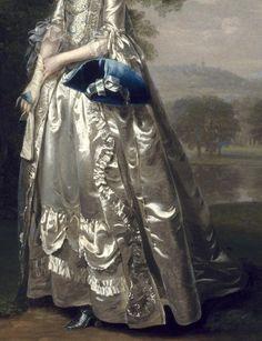 detailsofpaintings: Arthur Devis, Portrait of a Lady in a Landscape 1750 Rennaissance Art, Potrait Painting, Detailed Paintings, Sketch Inspiration, Old Paintings, Fashion Painting, Detail Art, Fabric Painting, Female Art