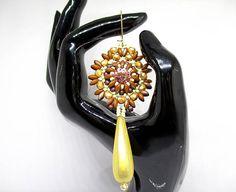 Boucles d'oreilles art déco cristal Swarovski®Rivoli.