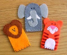 Set of Circus Finger Puppets x 3