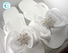 Bridal Flip Flops Bride Wedding Satin by BridalFlipFlops on Etsy, $38.00