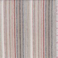 Ivory/Tan Stripe Linen