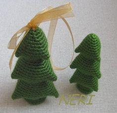 Crocheted Christmas Tree - Tutorial (Use Google Translate) ❥ 4U // hf