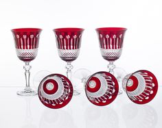 Crystal wine glasses, set of 6 pcs, 210ml -1264-