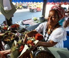 The first time that I tried acarajé was at the airport in Salvador, Bahia (located on Brazil's central coast region). Brazil Culture, Latin American Food, Funky Fashion, Gumbo, International Recipes, Tasty Dishes, Caramel Apples, Paella, Sweets