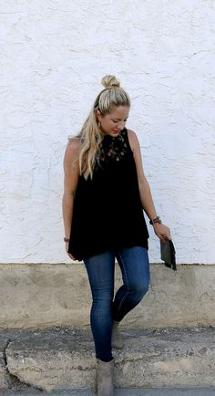 Fall Outfit- Lace Top