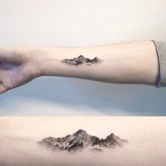 Beautiful mountain range tattoo by Hongdam