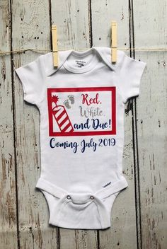 c78c349a2 Pregnancy Announcement Onesie - Customizable Month and Year Due