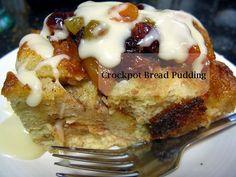 Crockpot Bread Pudding with Vanilla and Cinnamon  http://frugalnewenglandkitchen.com/crockpot-bread-pudding-recipe-vanilla-cinnamon-bread-pudding-slow-cooker-dessert-recipe/