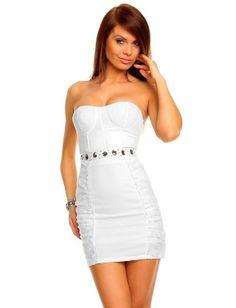 Vestido fiesta De copine white