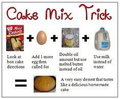 How do i make a cake mix taste like homemade