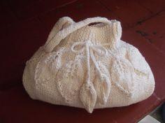 Free Shipping, Knit Bag, in creme, Women, Gift