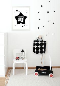 Scandinavian kid's room, Nursery, Kids room, Wall decor, Wall art https://www.etsy.com/listing/246575543/my-little-rock-star-kids-print-nursery