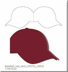 Baseball cap card (using Silhouette). but could be hand drawn & cut Boy Cards, Kids Cards, Cute Cards, 3d Templates, Card Making Templates, Shaped Cards, Marianne Design, Card Making Techniques, Card Patterns