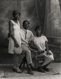 Studio portrait of Black siblings taken by JohnTrlica, a Czech photographer and community leader in Granger, Texas. His studio portraits of African-American, Hispanic and Czech area residents, reflect the diversity of the small Texas town during the 1920s