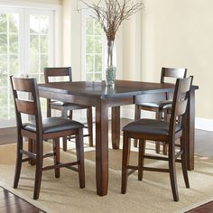 Wescott Counter-Height Table and Chairs 5-Piece Dining Set - Sam's Club