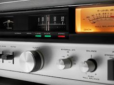 Vintage 1980s Denon stereo tuner - Click on photo for more stereo pics.