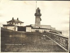 This is a photograph of the Heugh Lighthouse in Hartlepool.  The Lighthouse was replaced after the First Wolrd War and became electrified in 1927.  Photograph Collection No : 8636  Images from Hartlepool Cultural Services that are part of The Commons on Flickr are labeled 'no known copyright restrictions' indicating that Hartlepool Cultural Services is unaware of any current copyright restrictions on these images either because the copyright is waived or the term of copyright has expired…