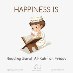 #Happiness is reading Surat Al Kahf on #friday