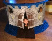 tablecloth playhouse, childrens playhouses, card table playhouse, waldorf toys, fabric table fort