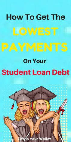 Student loan debt, pay off your student loan fast on low income. Pay off debt fast. Save money on bills. Student loan tips. Apply For Student Loans, Paying Off Student Loans, Student Loan Debt, School Loans, Grants For College, Loan Money, Student Loan Forgiveness, Online Loans, Paying Off Credit Cards
