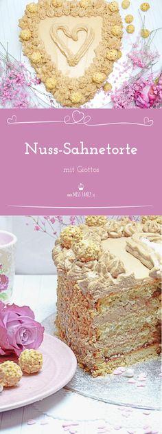 Diese Nuss-Sahne-Torte mit Giottos und Mascarpone ist ein Traum zu Muttertag oder Valentinstag :-)