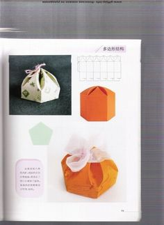 folding boxes: origami books - crafts ideas - crafts for kids Origami Bag, Origami And Quilling, Origami Paper, Origami Books, Diy Gift Box, Diy Box, Book Crafts, Paper Crafts, Geometric Origami