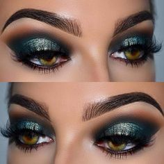 Bold Eye Makeup Idea for Prom