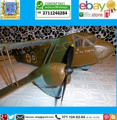 Modellino Aereo Legno De Havilland D.H 89 Dragon RAF Air Ambulance Vintage