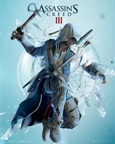 Assassin's Creed 3 : Attack - Mini Poster x new and sealed Assassins Creed 3, World Of Warcraft, Final Fantasy, Assassin's Creed Hidden Blade, Connor Kenway, Gaming Posters, Poster Online, Video Game Posters, Game Art