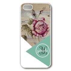 Geometric rose flower monogram wood printed phone case for iPhone 6 iPhone iPhone Samsung Note 4 Iphone6, Personalized Products, Wood Print, Ipad Case, Iphone Cases, Samsung, Monogram, Note, Flower