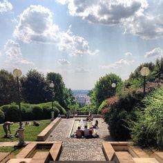 Parc de Belleville in Paris, Île-de-France