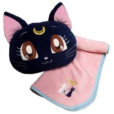 Sailor Moon Crystal Luna Fuwa Fuwa Blanket in Cushion $48.00 http://thingsfromjapan.net/sailor-moon-crystal-luna-fuwa-fuwa-blanket-in-cushion/ #sailor moon #kawaii blanket #Japanese product