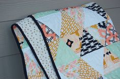 Hey, I found this really awesome Etsy listing at https://www.etsy.com/listing/205498759/modern-baby-quilt-arizona-fabrics-aztec