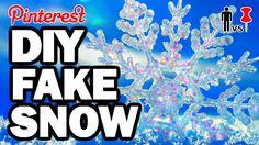 fake sníh z jedlé sody a pěny na holení